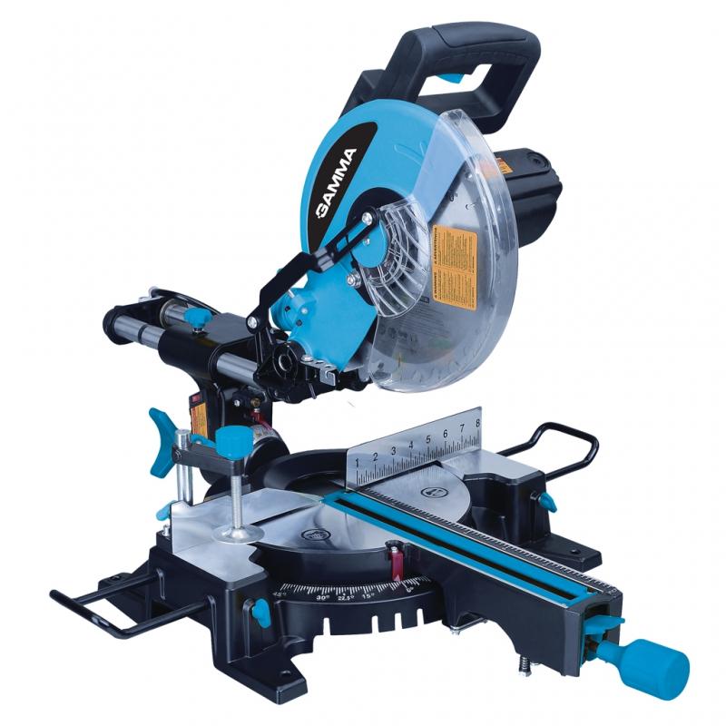Ingleteadora biseladora con marcador laser