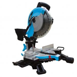 Sierra ingleteadora biseladora con marcador laser